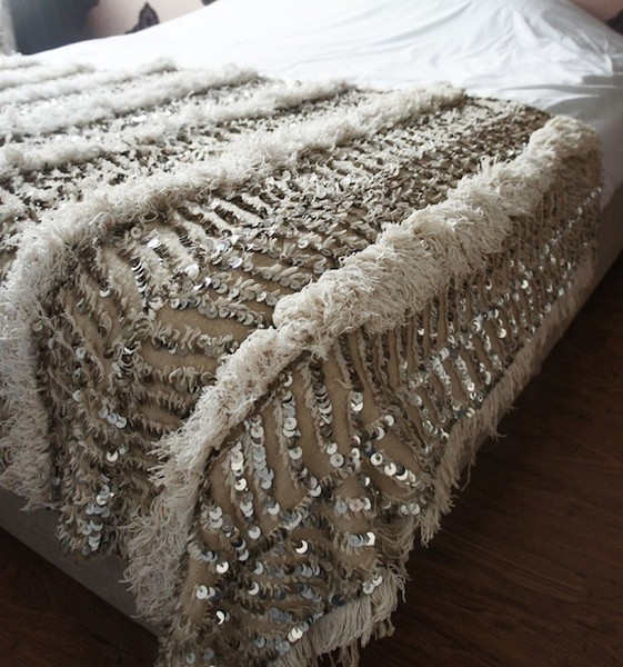 Vintage Handira wedding blanket by El Ramla Hamra
