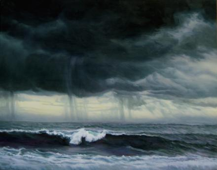 artist-Katherine Kean/Grey Surf Under Summer Storm