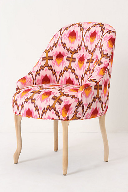 Raspberry Ikat Pull-Up Chair-Anthropologie
