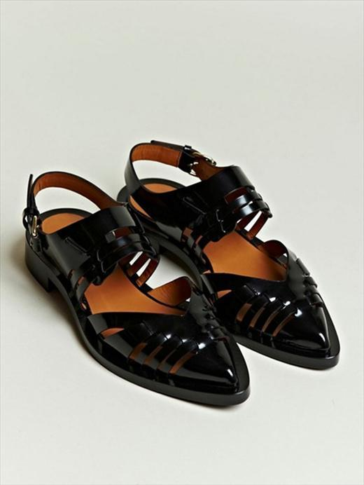 Givenchy S/S12 Women's Pointed Patent Leather Sandals via-AnOther