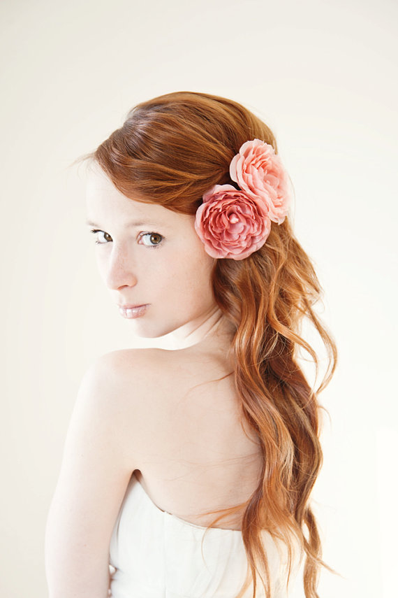 Dusty Roses bridal hair piece, SIBO Designs - Handmade Adornments & Accessories-shop, Etsy