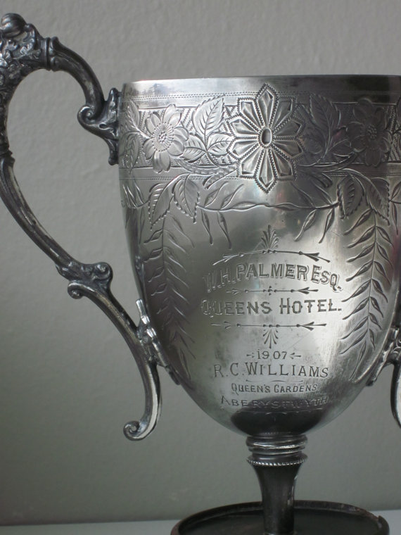 Antique Silver Trophy, shop Housewarming 101/Heather, Etsy