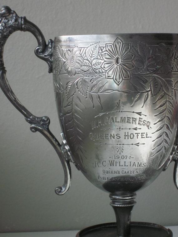 Antique Silver Trophy, shop Housewarming 101/Heather, Etsy