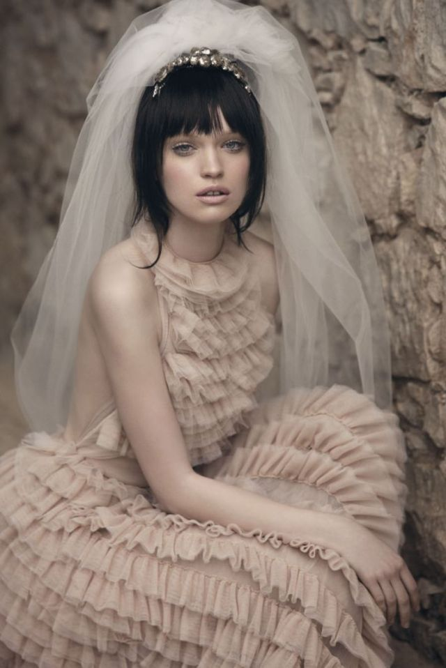 wedding shoot by Signe Vilstrup for Vanity Fair via-Onewed
