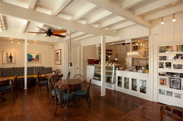 and the inspiration for this post....Art Café Hemingway  An institution for the fine life. In an ancient building in Kapaa we are offering real Italian espresso, small snacks, pretty things, comfortable surroundings, a classic gallery in the second floor, book signing, discussions with artists, ocean view and the ambience of the The Unbearable Lightness of Being.