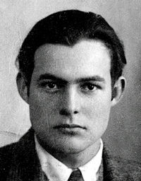 Ernest Hemingway, July 21, 1899-July 2, 1961  American author and Journalist
