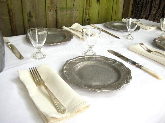 set of seven pewter plates. Shop Etsy at Hazel Roberts