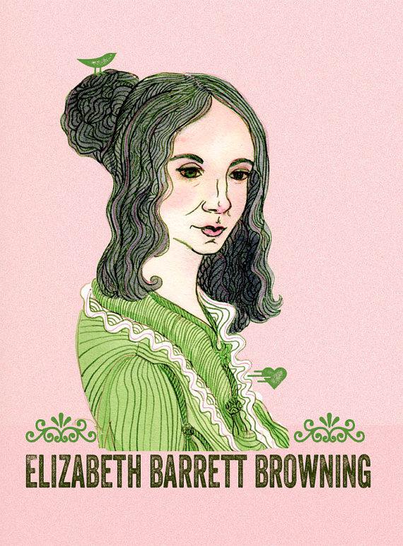 Elizabeth Barrett Browning by Michele Naquaiya-Naquaiya's Gallery, Etsy