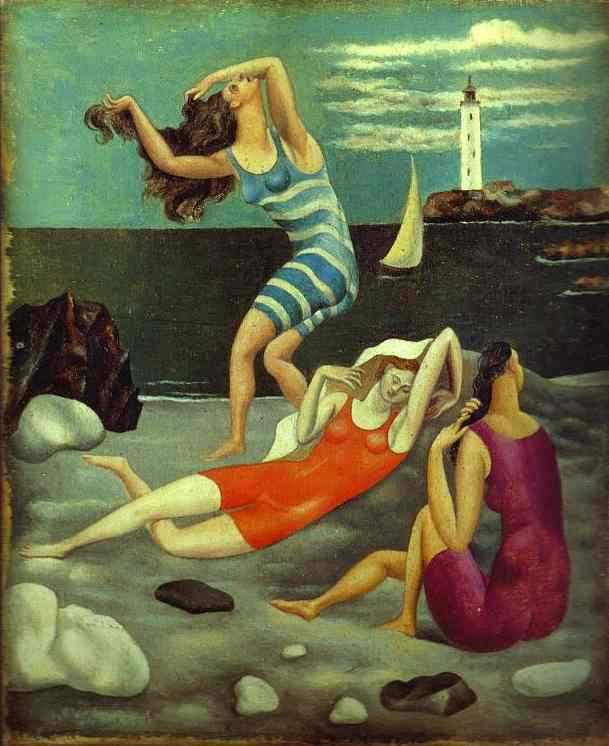 """The Bathers"". 1918   Oil on canvas  Paris, Picasso Museum"