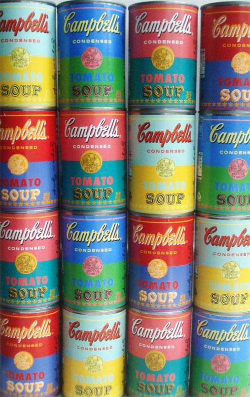 "Target is now carrying limited edition Andy Warhol-themed cans of tomato soup! ""The cans are designed in celebration of the famous pop artist's original works featuring Campbell's soup cans.""  via-Such Pretty Things"