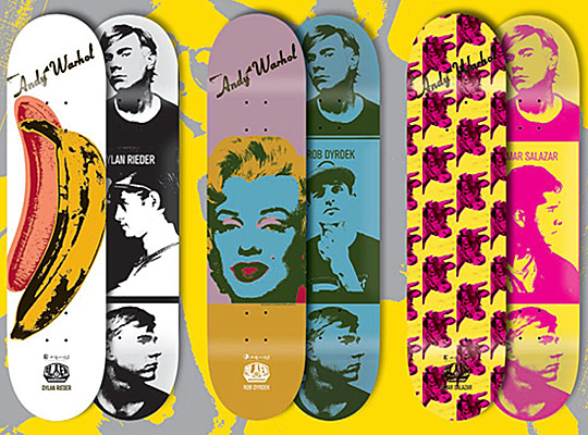 Andy Warhol x Alien Workshop Skate Decks via-Highsnob