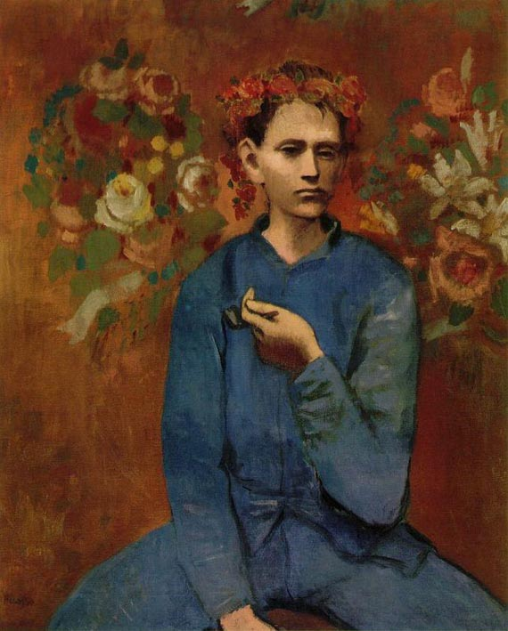 The second most expensive Picasso painting, Garcon a la Pipe, is a portrait of a Parisian working boy. The boy holds a pipe in his hand and wears a string of roses on his head like a crown. Picasso painted this masterpiece when he was only 24. As the colors suggest, this artwork belongs to Picasso's Rose Period. (1904-1906)It fetched $