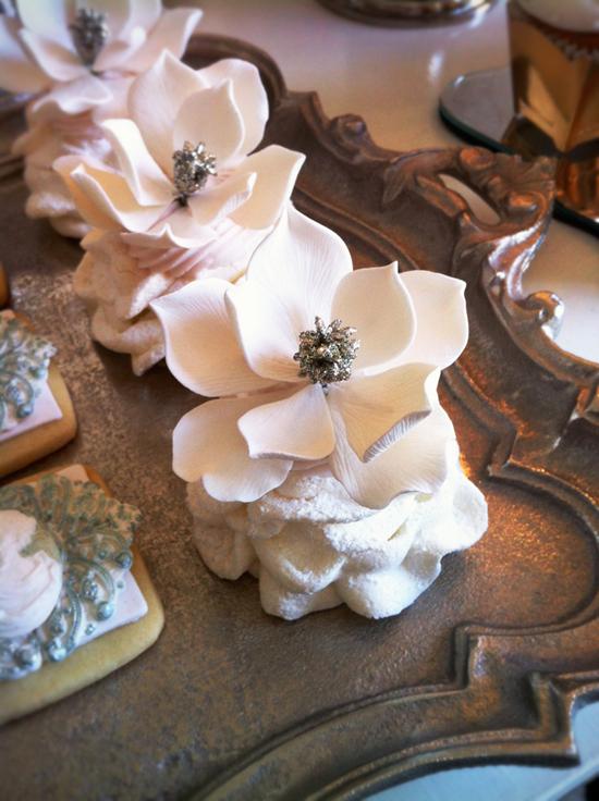 Powdered Blooming Meringues via-Connie Cupcake