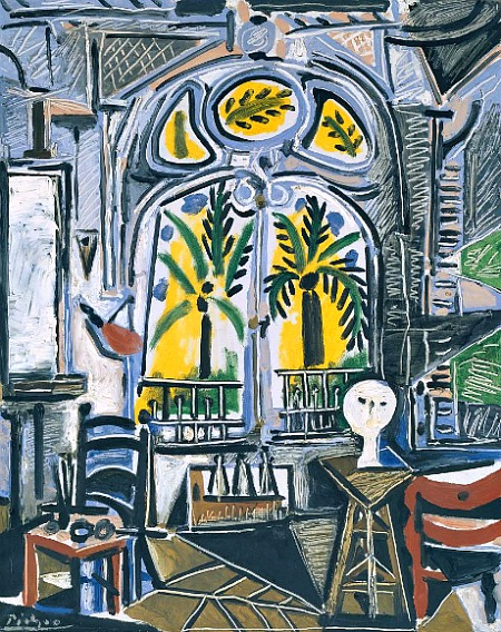 Pablo Picasso 'The Studio', 1955 via-Still Life Quick Art