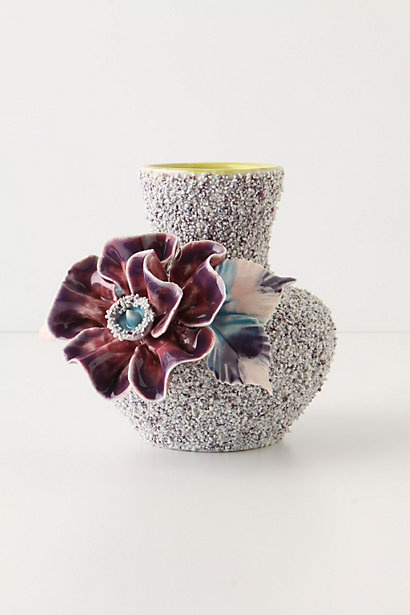 Speckled Petunia Vase, Anthropologie